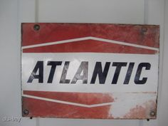 oil company signs | Vintage Porcelain Atlantic Oil Company Advertising Sign | eBay