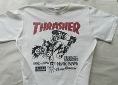 Thrasher magazineT shirt screen print short sleeve  by LostRecords, $14.99