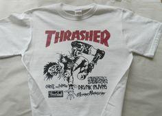 Thrasher magazineT shirt screen print short sleeve  by LostRecords, $14.99