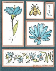 using Stampin' Up! In Full Bloom;nice layout, could substitute any images for the ones used here.