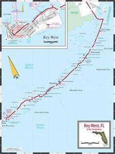 Key West & Florida Keys Road Map