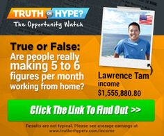 Are people REALLY making 5 to 6 figures per month working from home? see the truth here Home Based Business, Business Tips, Make Money Online, How To Make Money, Think Big, Earn Money, Personal Development, Did You Know, Online Marketing
