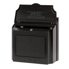 The Large Capacity Locking Wall Mounted Mailbox Wall Mount Mailbox, Mounted Mailbox, Drop Box Ideas, Security Mailbox, Large Mailbox, Whitehall Products, Sand Casting, Aluminium Alloy, Curb Appeal