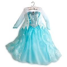 Disney Elsa Costume For Girls | Disney StoreElsa Costume For Girls - Inspired by Elsa's dazzling dress in <i>Frozen</i>, our glamorous costume recreates the beautiful aqua-blue gown with glittering details. Your little one will feel every bit the cool queen, from the snowcapped cape to the sparkling skirt.