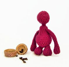 Children's toy , Magenta Amigurumi doll , Crochet doll , Gift for boys , Gift for girls , Gifts for kids , Gifts for babies , Made to order - pinned by pin4etsy.com