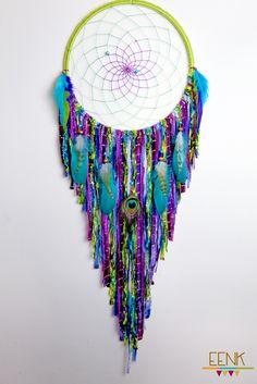 Peacock Dreamcatcher by eenk on Etsy -www.etsy.com/shop/eenk - LOVE THIS!