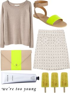 """neon"" by lushery ❤ liked on Polyvore"