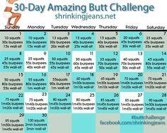 Programme sportif sur 30 jours