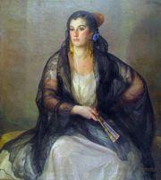 Arte español siglo XX- Julio Moisés. Concha con mantilla