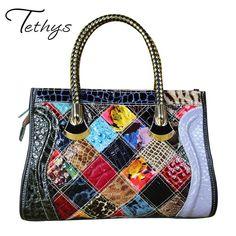 2017 Genuine Leather Female Bags Luxury Handbags Women Bags Designer Handbags Women Famous Brands Tote Bag Messenger Bags Female