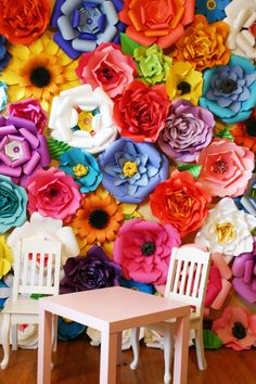 Spring paper flower backdrop / Paper Flower Backdrop / Giant Paper Flowers Wall / Paper Flower Wall / Wedding Wall / Wedding Arch
