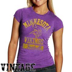3ad22a5a8 Junk Food Minnesota Vikings Ladies True Vintage Premium T-shirt Purple  Reign