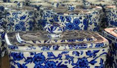 Blue and white Burleigh ware.