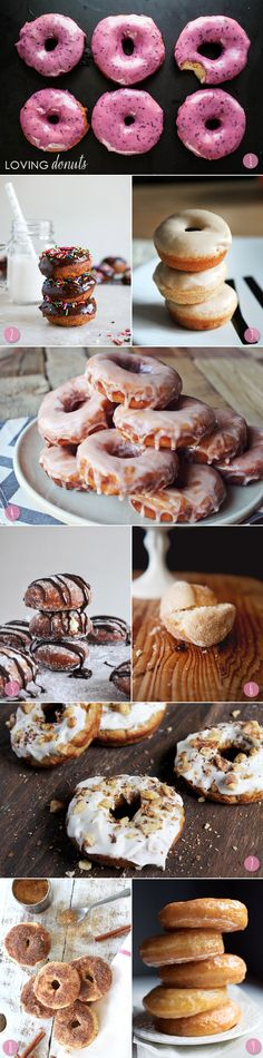 Loving Homemade Donuts: 1: Bourbon blueberry basil donuts   2: Chocolate frosted cake donuts   3: Baked apple cider donuts   4: Grapefruit donuts   5: Peanut butter cream filled donuts   6: French breakfast puffs   7: Carrot cake donuts   8: Cinnamon sugar donuts   9: Vanilla glazed yeast donuts