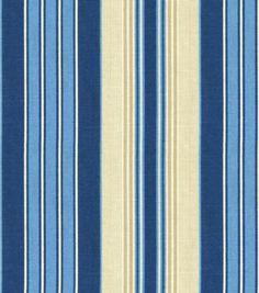 Home Decor Print Fabric-Pkaufmann Siene Stripe Indigo Home Decor Fabric, Fabric Crafts, Blue And Yellow Living Room, Printing On Fabric, Swatch, Indigo, Craft Supplies, Upholstery, Cotton Fabric