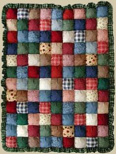 Puff quilt ♥ love the bright, cheerful colors