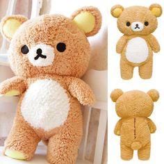 Fancy Stuffed Kawaii Gift San-x Rilakkuma Relax Bear nice Pillow Plush Toy Doll