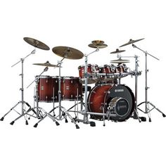 Yamaha Oak Customs...this kit is a bit big haha. I think the biggest I'd go would be a five piece (1 mounted Tom, 2 Floor Toms).