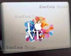 Mac decal, Macbook decal, Love Quote vinyl color sticker, Mac sticker, Macbook sticker, laptop sticker, Macbook pro decal, Macbook air decal