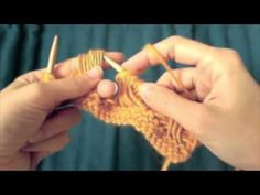 Knitting - crosshatch stitch, or right inside-out cross (RioC) tutorial
