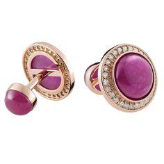 Stena Ruby Diamond Gold Cufflinks 1