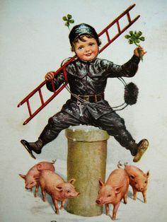 Glücksbringer Shabby Vintage, Hello January, Auld Lang Syne, Chimney Sweep, Four Leaf Clover, New Years Party, Lucky Charm, 6 Years, Ladybug