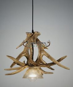 Exlusive to CHD--Whitetail Deer 3 Large Antler Pendant--NEW! The Whitetail Deer 3 Large Antler Pendant is the perfect combination of the pendant size and style of an antler chandelier. The downlight gives off just the right amount of light, especially for kitchens and dining rooms.   *Comes with wire cord, not chain.
