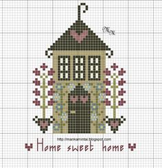 free cross stitch house freebie Home Sweet Home