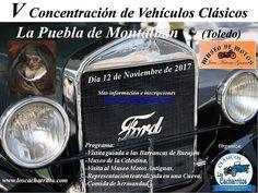 Domingo 12 de Noviembre- V Concentracióbn de vehículos clásicos en La Puebla de Montalbán, Toledo.   Nos lo pasaremos muy bien. ¡Os esperamos!. Gracias.  Más información e inscripciones en: loscacharritos@hotmail.com