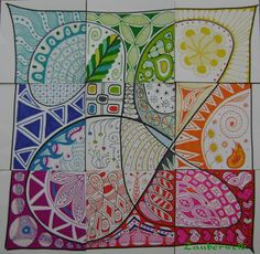 Zentangle: magisches Quadrat