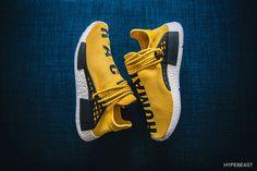 Pharrell Williams x adidas Originals Hu NMD のディテールをクローズアップ