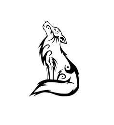Image result for small stylised wolf tattoo