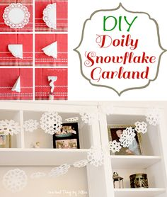 Make your own beautiful Doily Snowflake Garland! So easy and affordable.