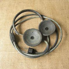 Soviet Military Headphones Radio Man Headphones Military Earphones Working Condition Military Collectible