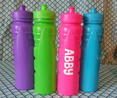 Personalized Sports Bottles by BigEasyPaperCo on Etsy Sports Bottles, Water Bottle, Drinks, Unique Jewelry, Handmade Gifts, Etsy, Drinking, Kid Craft Gifts, Beverages