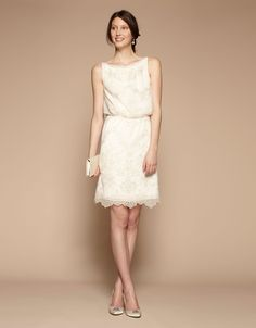 Beautiful And Feminine Bridal Dress Perfect For A Civil Wedding Or The Night Before Tail