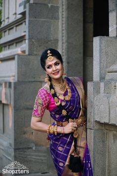 India Earth slaying the silk saree look like a pro. proudly presents it's one of a… Indian Bridal Sarees, Bridal Silk Saree, Indian Bridal Fashion, Indian Wedding Outfits, Saree Wedding, Silk Sarees, Net Saree, Lehenga Saree, Bollywood Saree