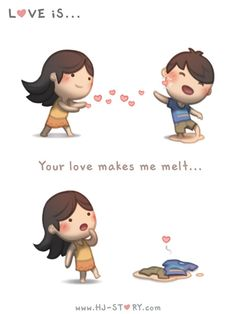 HJ-Story :: Your love makes me melt. Cute Couple Comics, Couples Comics, Cute Comics, Anime Couples, Hj Story, Cute Love Stories, Love Story, Love Poems, Love Quotes