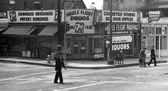 L.A. - Bunker Hill / Angels Flight area 1940s by A Box of Pictures, via Flickr