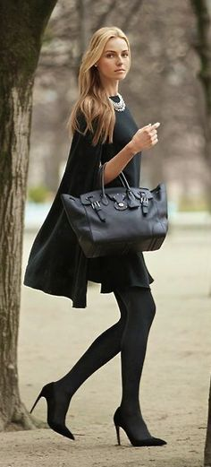 All black Autumn chic - Ralph Lauren
