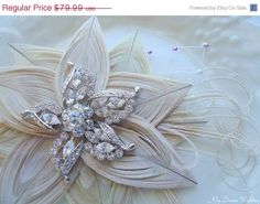 ON SALE Ivory Peacock Headpiece Embellished with by MyDreamWedding, $71.99