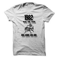 Legend 1982 ... 999 Cool Year Shirt ! - #thank you gift #husband gift. HURRY:   => https://www.sunfrog.com/LifeStyle/Legend-1982-999-Cool-Year-Shirt-.html?id=60505