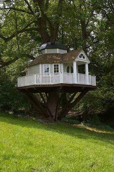 moderne Gartenhäuser Baumhaus im Weiss