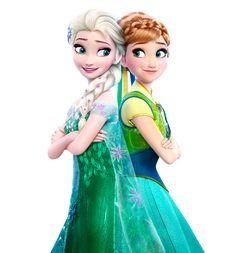 Elsa and Anna Frozen Fever- Transparent Background by Simmeh.deviantart.com on @DeviantArt