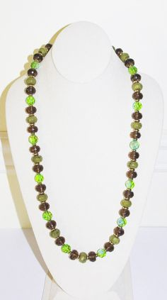 Joan Rivers Beaded Necklace Green Faceted Beads by SCLadyDiJewelry