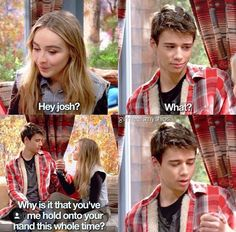 JOSHAYA! Girl Meets Ski Lodge Part 2<<<I like the idea of Joshaya, but I think they make really good friends better than they do as a couple. Lucaya's my ship, and I'm staying on forever, no matter what.
