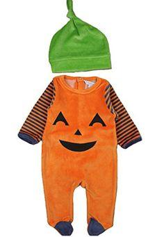 Gymboree Fall Halloween Thanksgiving Costume Velour Orange Pumpkin Boy Girl Hat