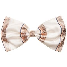 Hucklebones London - Stripe Hair Bow Clip |