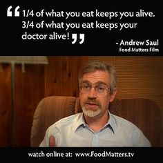 Why are you paying for your Doctor's vacations, flashy car and giant house? Eat natural and contribute to your own wealth.