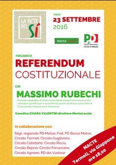 Termoli Referendum Costituzionale: incontro formativo con Massimo Rubechi